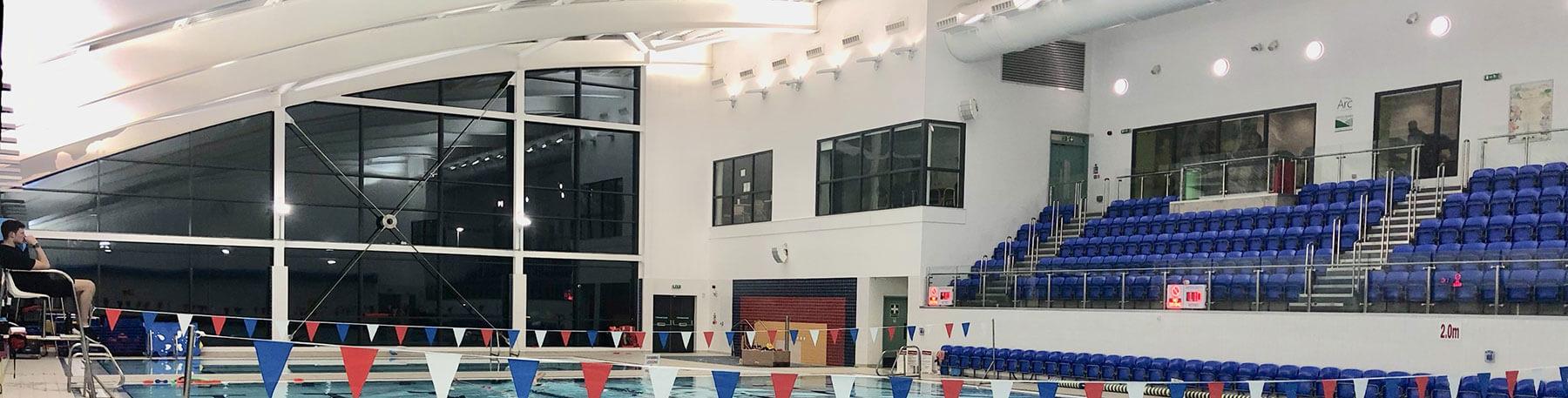ARC Leisure Centre Matlock swimming pool hall led lights saving energy