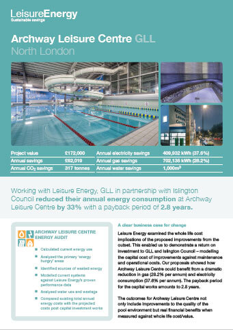 Archway Leisure Centre GLL - Leisure Energy Case Study